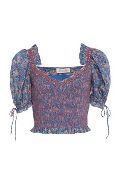 Tilly Cropped Floral-Print Cotton-Voile Top  by LOVESHACKFANCY Now Available on Moda Operandi