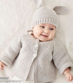 Latest Free of Charge Crochet baby jacket Suggestions Easy Rib Baby Jacket Strickanleitung Bernat Knit Baby Jacket Set Gratisanleitung # # Baby Cardigan Knitting Pattern Free, Knitting Patterns Boys, Baby Sweater Patterns, Knitted Baby Cardigan, Knit Baby Sweaters, Knitted Baby Clothes, Knitting For Kids, Free Knitting, Free Crochet
