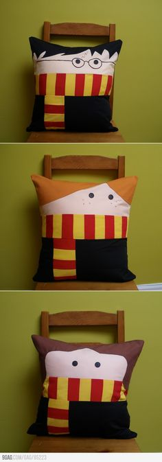 There is not an instruction manual on how to make these cuties but if you know how to sew and make pillows you are in luck! New idea! Now if only they could make Doctor Who or Star War pillows...