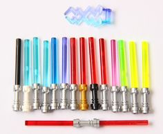 Amazon.com: LEGO Star Wars Lightsaber Rare Colors and Metallic Hilts (15 Total including Trans-Green): Toys & Games