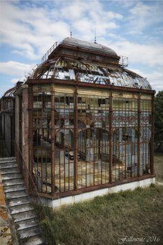 Abandoned victorian era greenhouse