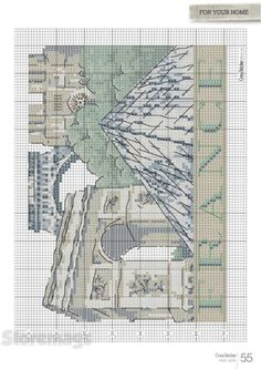 Cross Stitcher - May 2015 Cross Stitch House, Cross Stitch Samplers, Cross Stitching, Cross Stitch Embroidery, Cross Stitch Patterns, Blackwork Patterns, Cross Stitch Landscape, Canvas Designs, Couture