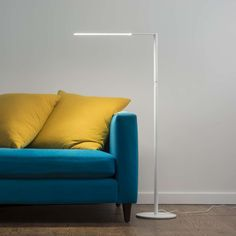 Typically, floor lamps are adjustable, so you can reposition and aim the light wherever you need by moving the arms or the shade. http://www.ylighting.com/blog/floor-lamps-or-torchieres/