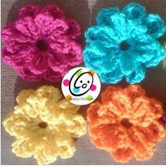 Free Button on Flower Crochet Pattern - Snappy Tots