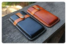 NEW iPhone 5 Leather Case Hand Stitched - Unisex Women / Valentines Man Men Gift via Etsy
