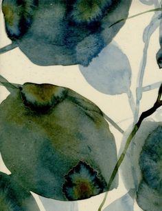 Watercolour leaves luli sanchez