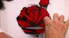 comment peindre une rose en francais - YouTube