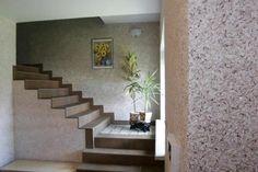 Tapet lichid pentru hol Stairs, House Design, Interior Design, Wallpaper, Home Decor, Wall, Texture, Glitter Walls, Interior Design Wallpaper