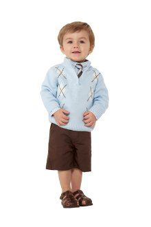 Got Preston an Easter outfit. Just without the sweater and long brown linen pants instead of shorts. <3