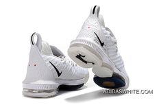 d13fcaed5a5c0e Nike LeBron 16 All White Women Men Battle Shoes Best Chino Hills  Basketball