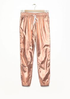 & Other Stories Rose Gold Bronze Pants Joggers Sport 40 EU S M Trousers Cropped #OtherStories #Joggers