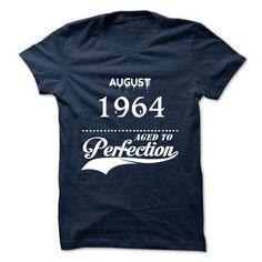 August 1964 aged to perfection - #denim shirt #tshirt customizada. ORDER HERE => https://www.sunfrog.com/Valentines/August-1964-aged-to-perfection.html?68278