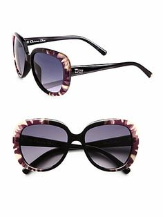 Dior - Oversized Round Floral Sunglasses - Saks.com