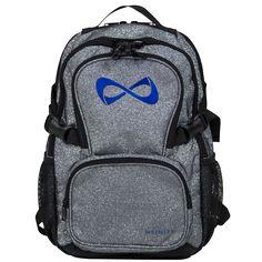 17fdbabe0dab Petite Sparkle Gray w  Royal Blue Logo Petite Backpacks