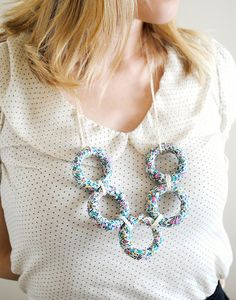 fabric ring necklace