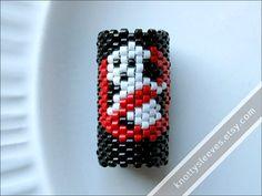Dreadlock Bead - Peyote Stitch Dread Sleeve - Ghostbusters