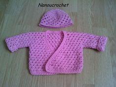 Cache-coeur pour préma - Le petit atelier de Nanoucrochet Crochet Socks, Crochet Clothes, Knit Crochet, Crochet For Kids, Crochet Baby, Little Babies, Baby Kids, Baby One More Time, Drops Design