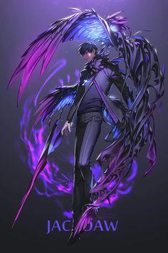 Art reference monsters 19 new Ideas Fantasy Kunst, Dark Fantasy Art, Fantasy Artwork, Fantasy Character Design, Character Design Inspiration, Character Art, Anime Amor, M Anime, Jackdaw