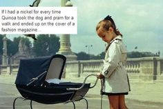 Dachshund and girl pushing pram from Vogue Enfants Baby Kind, Vogue Covers, Dachshund Love, Daschund, Inspiration Mode, Color Inspiration, Baby Carriage, Vintage Vogue, Toddler Girls