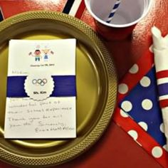 Olympic Party Place Setting