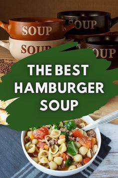 Craving a simple recipe that will have everyone running for the table? This delicious Hamburger Soup couldn't be more simple!