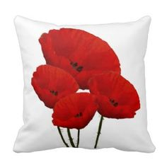 Four Red Poppies Pillow - Red Throw Pillows *Fresh inventory added to site, visit www.prettythrowpillows.com to see all of our red throw pillows Red Throw Pillows, Decorative Throw Pillows, Site Visit, Red Poppies, Fresh, Blog, Red Pillows, Accent Pillows, Blogging