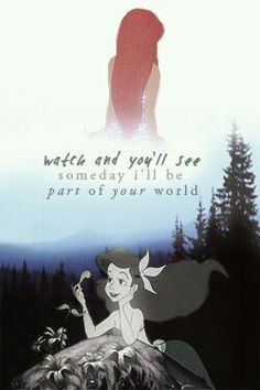 The Little Mermaid. Part of your world.