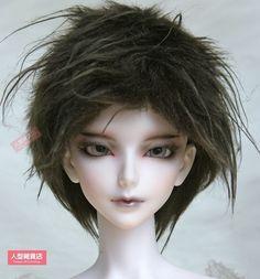 BJD doll wig 9-10 inch 22-24cm 1/3 BJD DOLL SD Fur Wig Dollfie Brown for MK M8