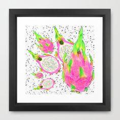 Framed Art Print - Pink Dragon fruit! https://society6.com/nickyriga/framed-prints