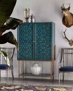 Modern turquoise chest - lovely