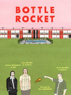 Ian Dingman (iolabs 2nd edition papercuts winner!) designed the cover for Wes Anderson's Bottle Rocket Criterion Collection...so awesome.