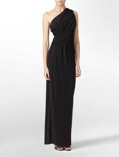 Calvin Klein one-shoulder solid matte jersey long formal dress  $199.50