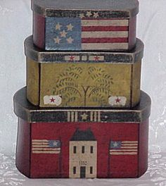 Sheep, Willow, Flag Shaker Boxes