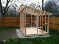 Plans to Build a shed on a weekend - (Shed Build Thread) Build a Shed on a Weekend - Our plans include complete step-by-step details. If you are a first time builder trying to figure out how to build a shed, you are in the right place! Backyard Office, Backyard Sheds, Garden Office, Outdoor Sheds, Garden Sheds, Pallet Shed, Wood Shed, Diy Storage Shed, Storage Ideas