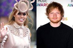 Princesa britânica corta o rosto de Ed Sheeran com uma espada
