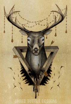 Minus whatever that junk is on the antlers...