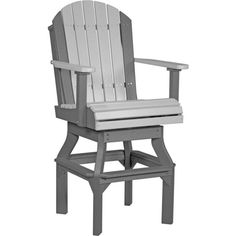 Amish LuxCraft Poly Wood Adirondack Swivel Chair ($437) ❤ liked on Polyvore featuring home, outdoors, patio furniture, outdoor chairs, outdoor patio furniture, outdoor patio chairs, outdoor wood chairs, wooden patio chairs and outdoor bar height chairs