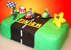 Mario Cart Birthday Cake