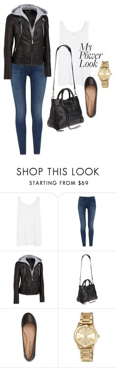 """My Power Look"" by coolchick1630 ❤ liked on Polyvore featuring Eileen Fisher, 3x1, Wilsons Leather, Balenciaga, Lucky Brand and MICHAEL Michael Kors"
