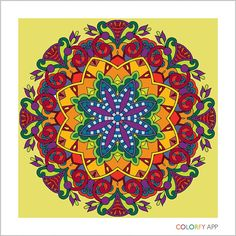 I'm crazy about coloring! #colorfy #mandala