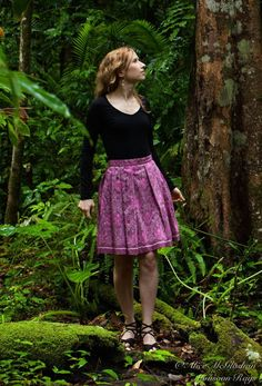 A pink, Cambodian Hoi silk skirt is an essential in every fair trade fashion wardrobe. With 2-4 skirts styled from each piece of fabric, these are limited editions!