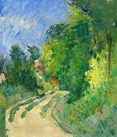 Paul Cézanne Bend in the road through the forest (La Route tournante en sous-Bois) 1873-75