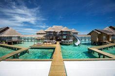 Gili Lankanfushi on Lankanfushi Island, Male City, Maldives over water villa Maldives Tour, Maldives Resort, Maldives Travel, Male City, Gili Lankanfushi, Big Swimming Pools, All Inclusive Family Resorts, Water Villa, Water Slides
