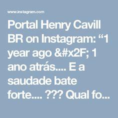 """Portal Henry Cavill BR on Instagram: """"1 year ago / 1 ano atrás.... E a saudade bate forte.... 😢😢😢 Qual foi o momento que você mais gostou de @henrycavill no Brasil?  #henrynobrasil #henryinbrazil #agentedaunclenorio #manfromuncle"""""""