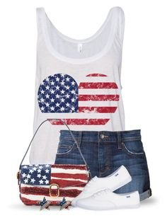 """""""Happy 4th of July"""" by jackie22 ❤ liked on Polyvore featuring Joe's Jeans, redwhiteandblue, flag and july4th"""