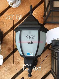 THOMAS LIGHTING PL-5271-7 Matte Black Outdoor Light 1 light bulb 26W CFTR26W New #ThomasLighting