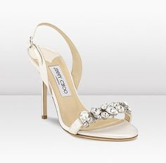 Weddbook Jimmy Choo Lotus Satin Sandal With Delicate Display Of Crystals Summer And Beach Wedding Shoes Ideas