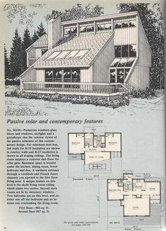 Vintage House Plans, Contemporary Passive Solar