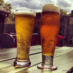 Enjoying beers at the Lyons Fork in Lyons, #Colorado. From HeidiTown.com. #beer