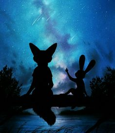 Art of the Day Under the Moon and Stars – Zootopia News Network Zootopia Anime, Zootopia Comic, Nick Wilde, Nick Y Judy, Studio Disney, Zootopia Nick And Judy, Furry Comic, Film D'animation, Cute Disney Wallpaper